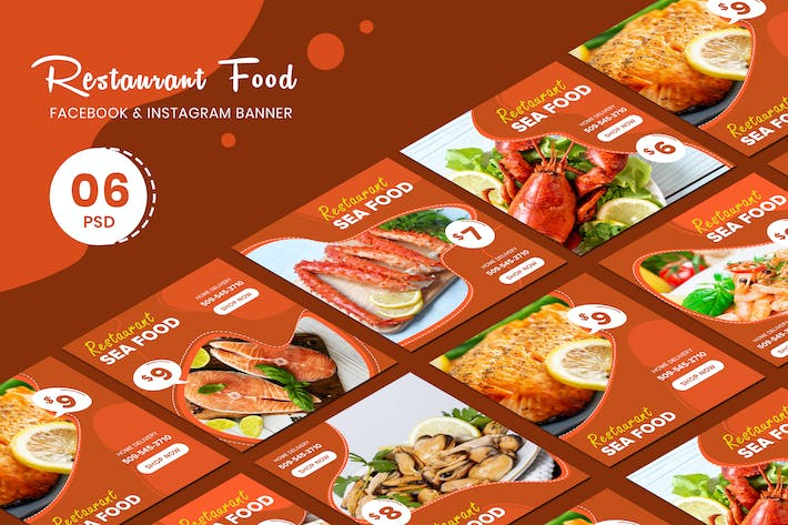 Thumbnail for Restaurant Food  Banner Templates