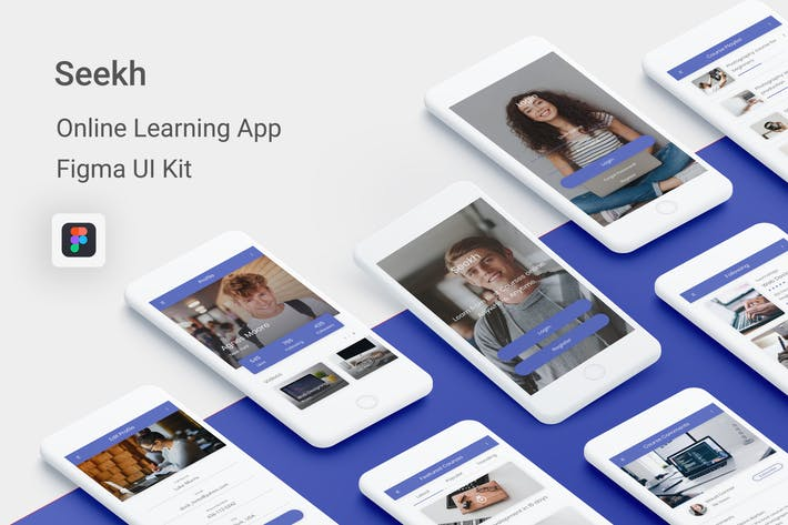 Thumbnail for Seekh - Online Learning UI Kit for Figma