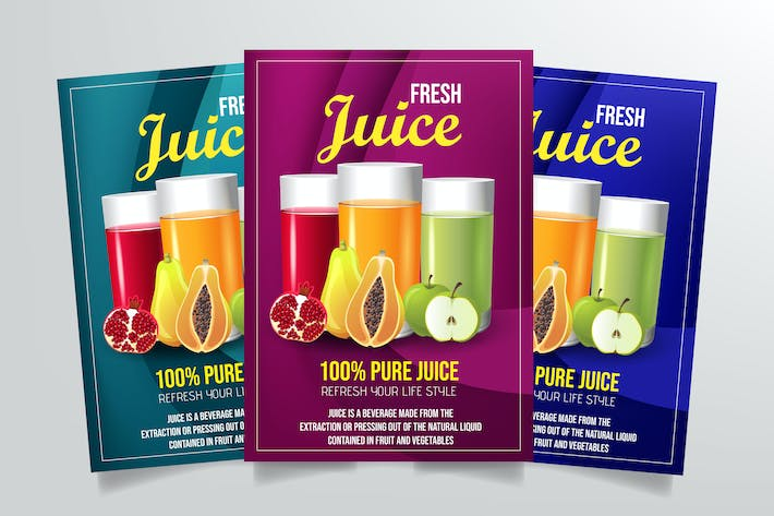 Thumbnail for Fresh Juice Flyer Template