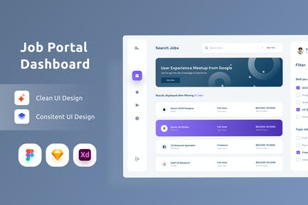 Jobplattform Dashboarrd-UI Kit