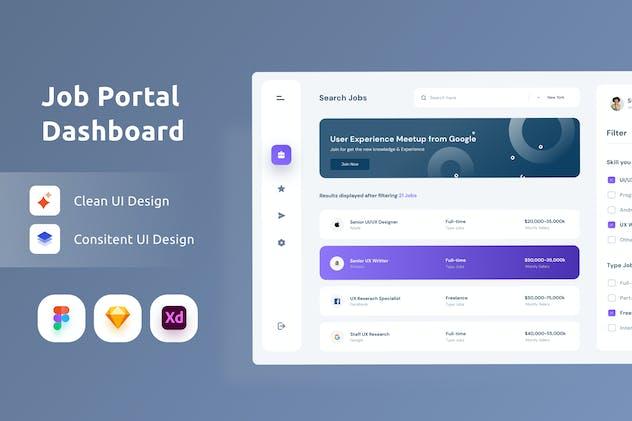 Job Platform Dashboarrd UI Kit