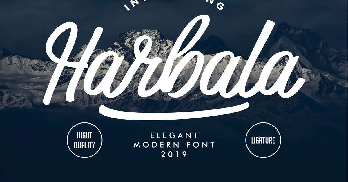 Download Harbala | Elegant Modern Script Font by gilang_senzana