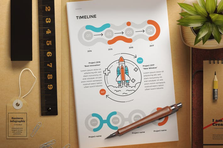 Cover Image For Business infographic