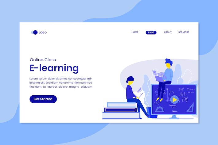 Thumbnail for Distance Learning Online Landing Page