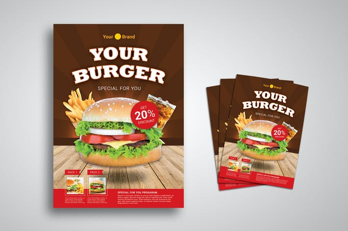Cover Image For Burger Promo Flyer