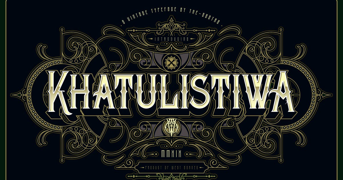 Download Khatulistiwa typeface by the-sastra