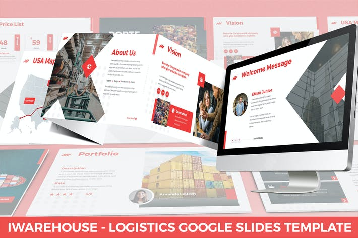 iWarehouse - Logistics Google Slides Template
