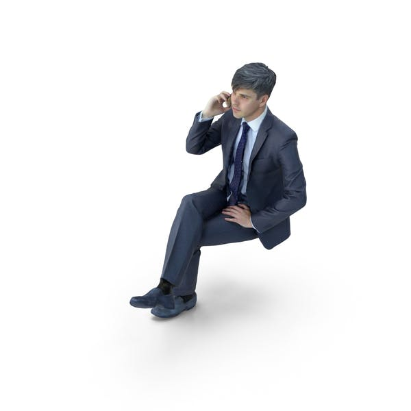 Thumbnail for Business Man Sitting with Phone