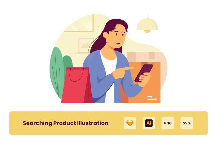 Thumbnail for Suche nach Produkt auf Black Friday Illustration