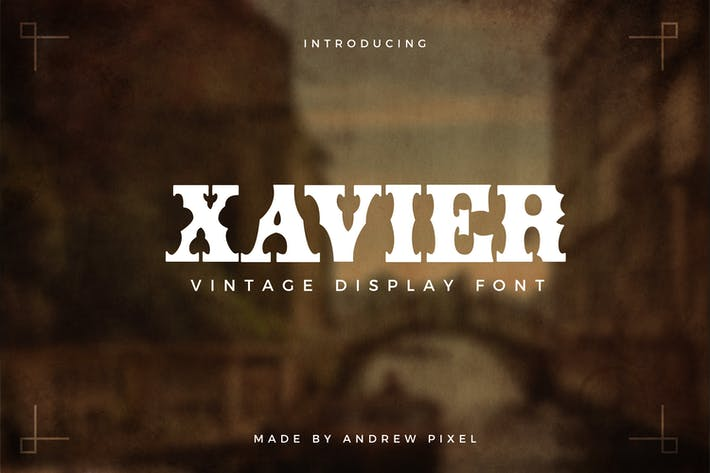Thumbnail for Xavier - Vintage Display Font