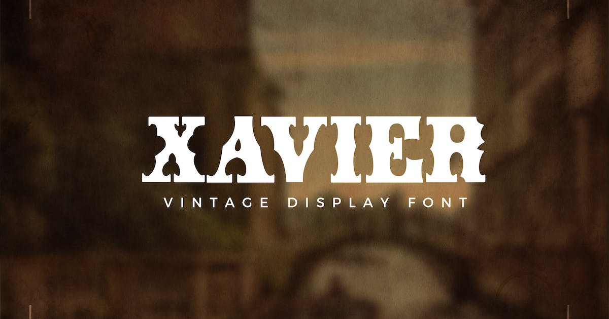 Download Xavier - Vintage Display Font by andrewtimothy