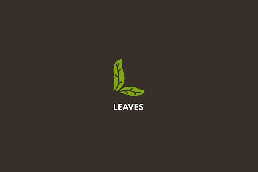 Leaves - Letter L Logo