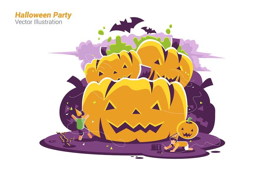 Halloween Party - Vector Illustration