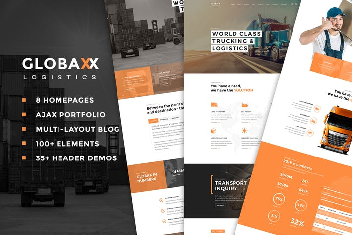 Thumbnail for Globax - Logistics WordPress Theme + Woocommerce