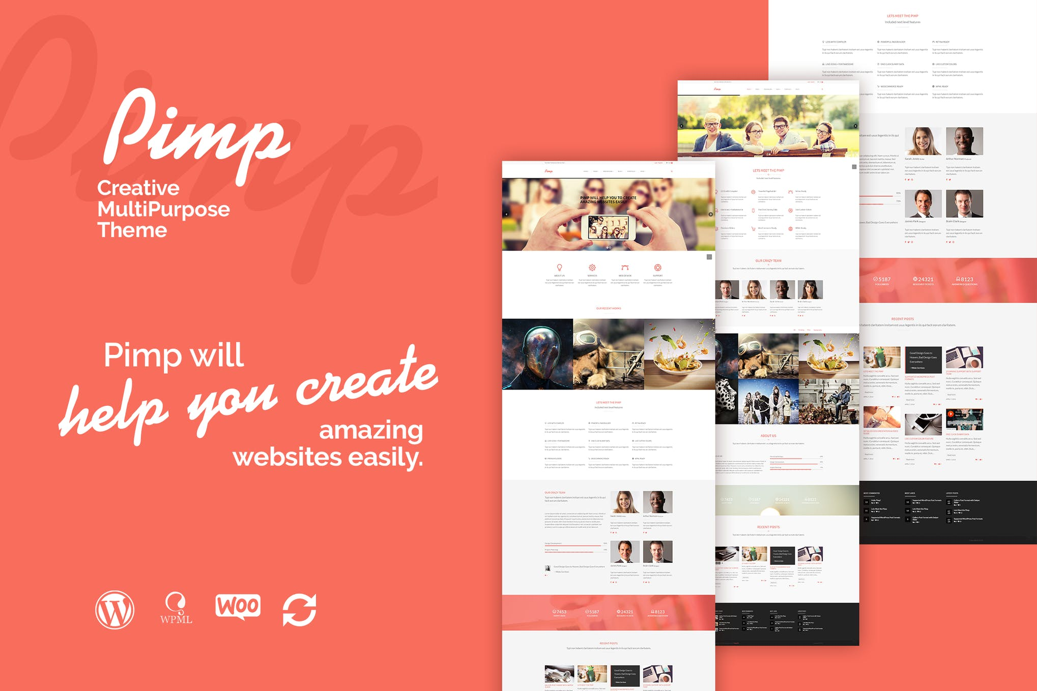 The Agency - Creative One Page Agency WP Theme by themeton