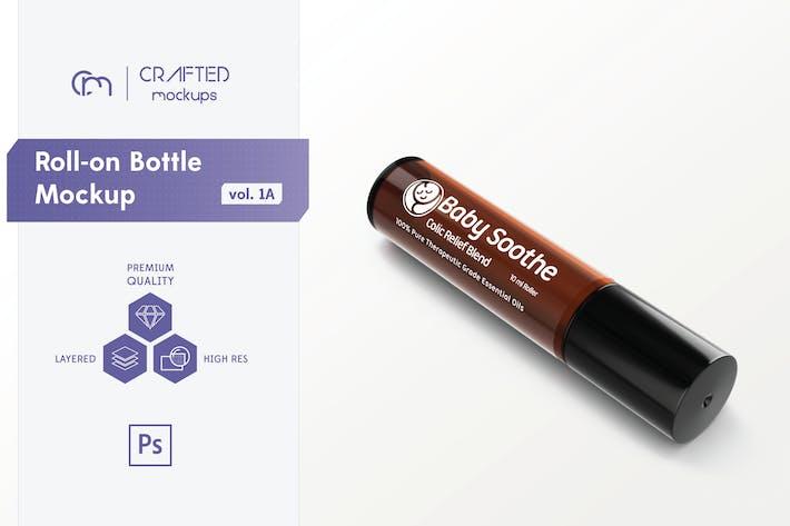 Cover Image For Roll-on Bottle Mockup v. 1A