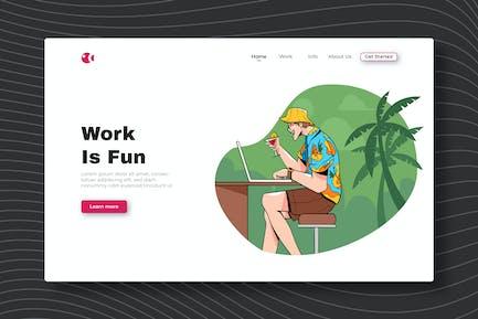 Work Is Fun - Landing Page