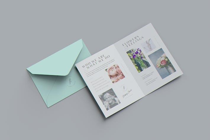 Thumbnail for US Size Bifold Brochure / Invitation Mockup