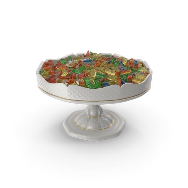 Fancy Porcelain Bowl With Gummy Bears