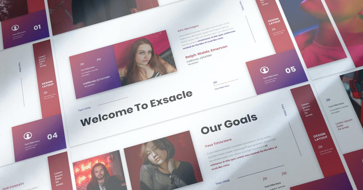 Download Exsacle - Business Presentation Keynote Template by raseuki