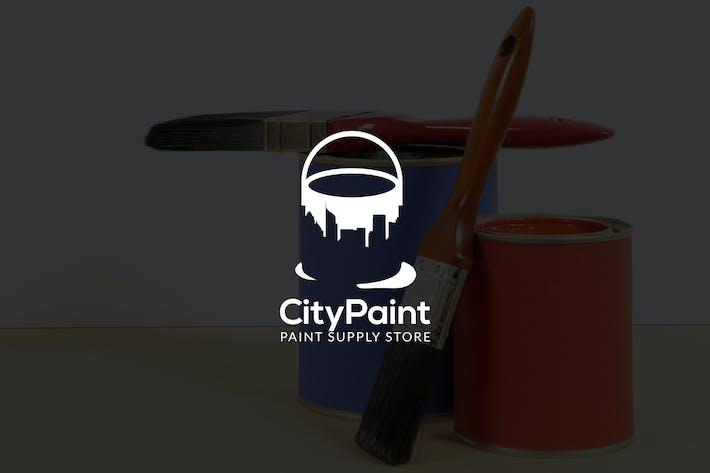 Thumbnail for CityPaint : Negative Space Paint Service Logo
