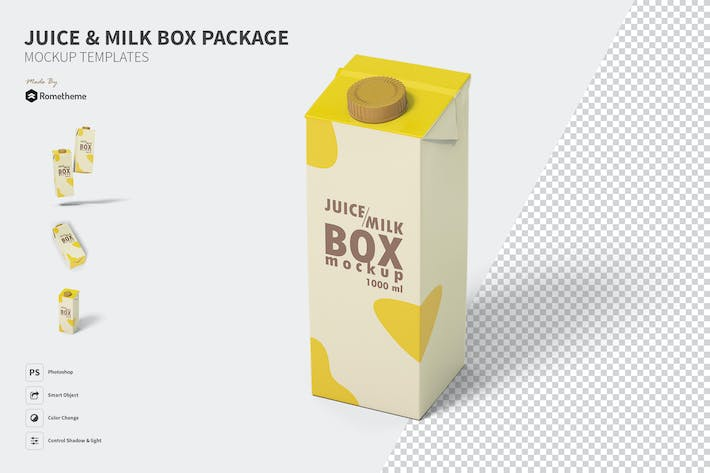 Thumbnail for Juice and Milk box - Mockup FH