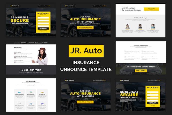 Thumbnail for Jr. Página de inicio de seguro de auto: Responsivo