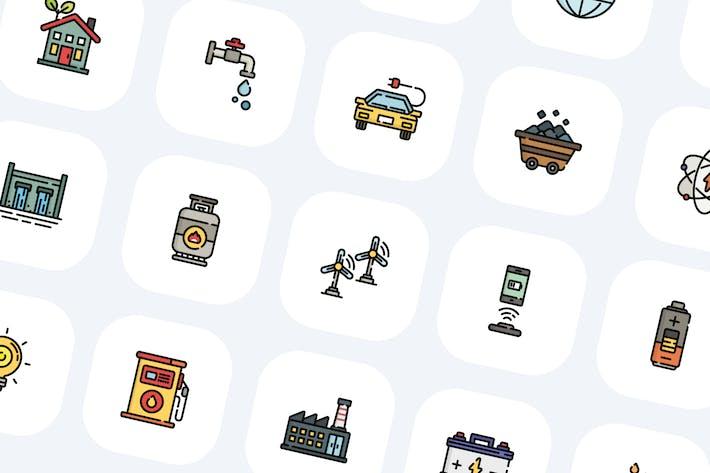 30 Energy Icons
