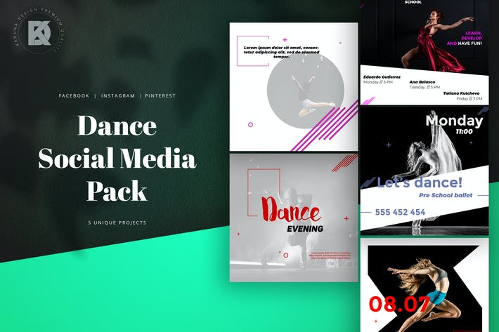 Thumbnail for Dance Social Media Pack