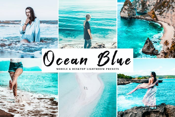 Thumbnail for Ocean Blue Mobile & Desktop Lightroom Presets