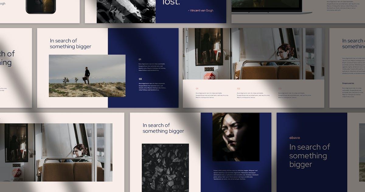 Download Obave - Minimal Business Theme Keynote by Slidehack