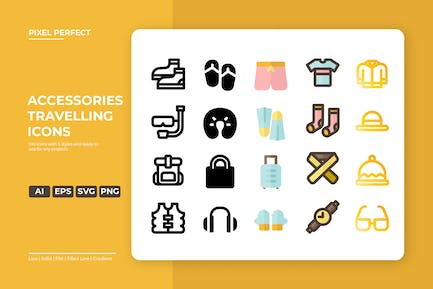 Accessories Travelling Icon - 5 Styles