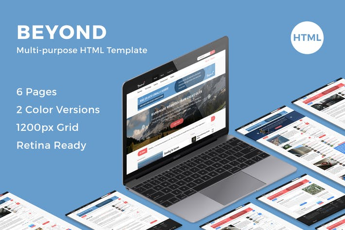 Cover Image For Beyond - Multi-purpose HTML Template