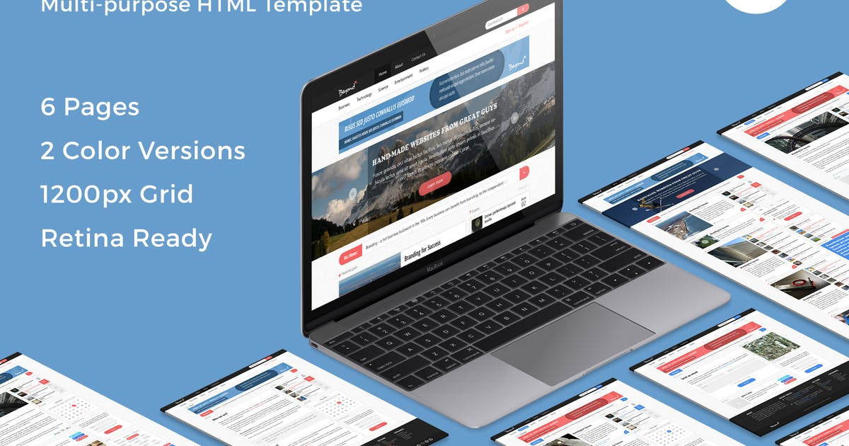 Download Beyond - Multi-purpose HTML Template by bestwebsoft