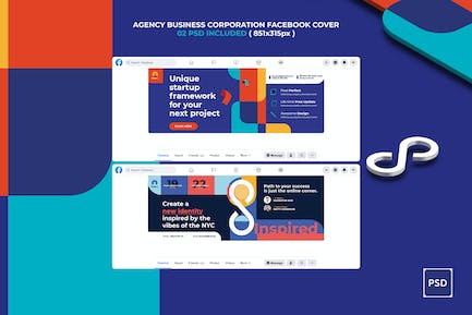 Agency Business Corporation Facebook Cover