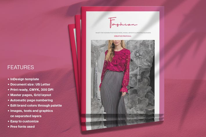Cover Image For Fashion Proposal Layout