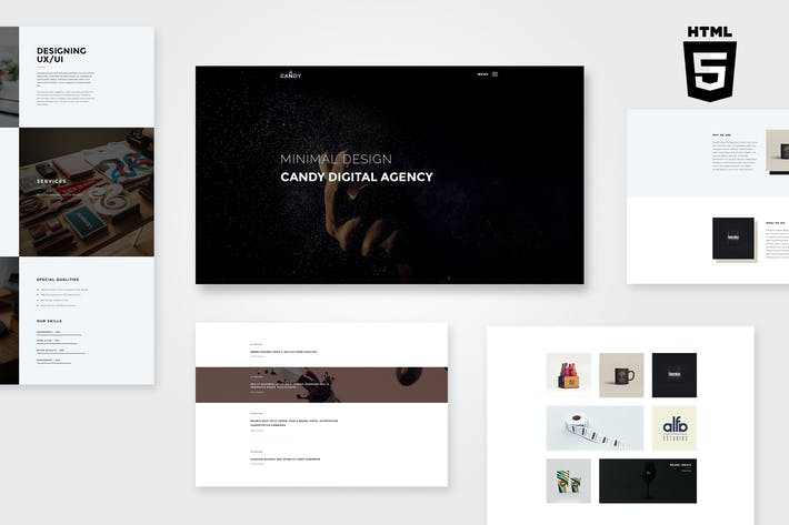 Cover Image For Candy | One & Multi Page HTML