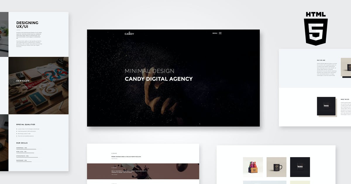 Download Candy | One & Multi Page HTML by AgniHD