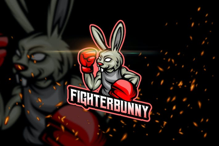 Thumbnail for Fighter Bunny - Esport & Mascot Logo Template