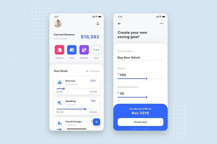 Thumbnail for Expense Tracker Mobile App UI Template