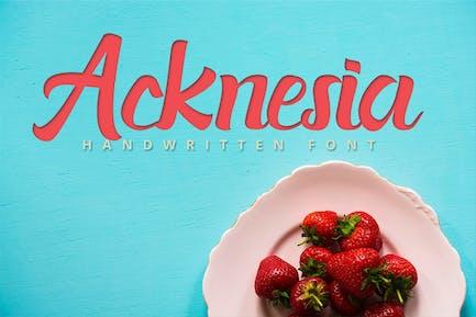Acknesia - Food Hand Written Font