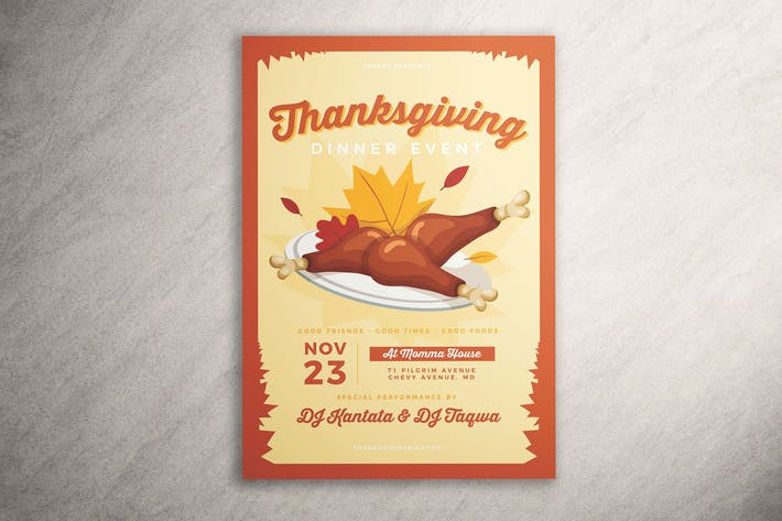 Thumbnail for Thanksgiving Dinner Flyer