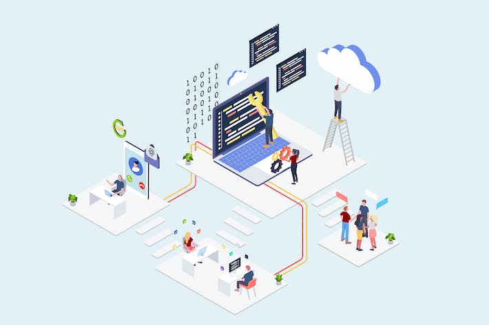 Thumbnail for Cloud Computing Service Companies Isometric