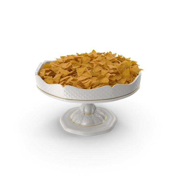 Porcelain Bowl with Nacho Chips