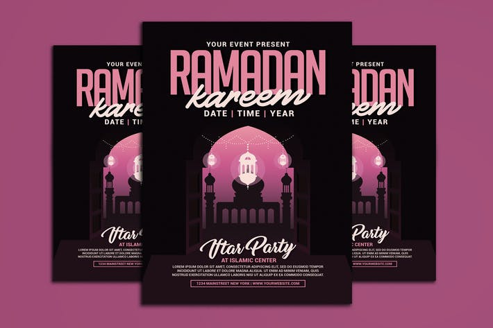 Cover Image For Ramadan Kareem Flyer Template