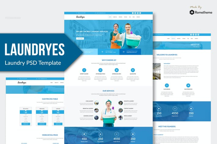Thumbnail for Laundryes - Laundry PSD Template YR