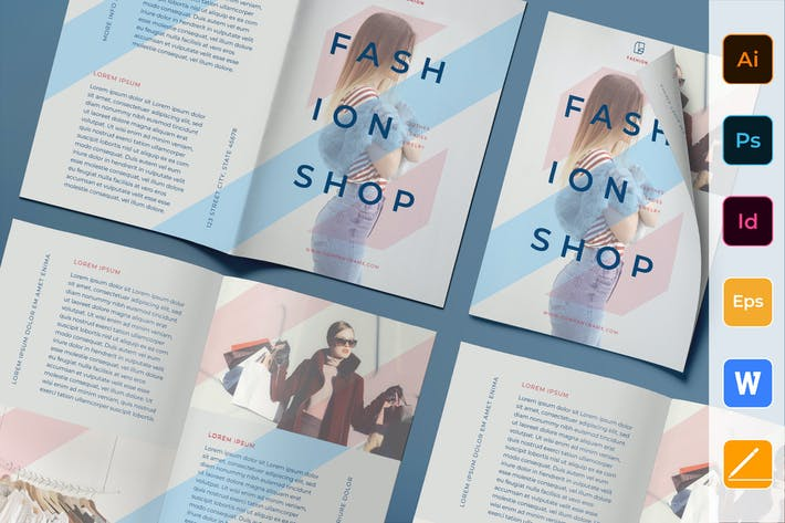Thumbnail for Fashion Shop Brochure Bifold