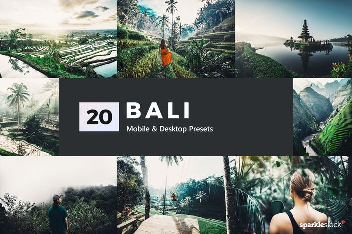 Thumbnail for 20 Bali Lightroom Presets & LUTs