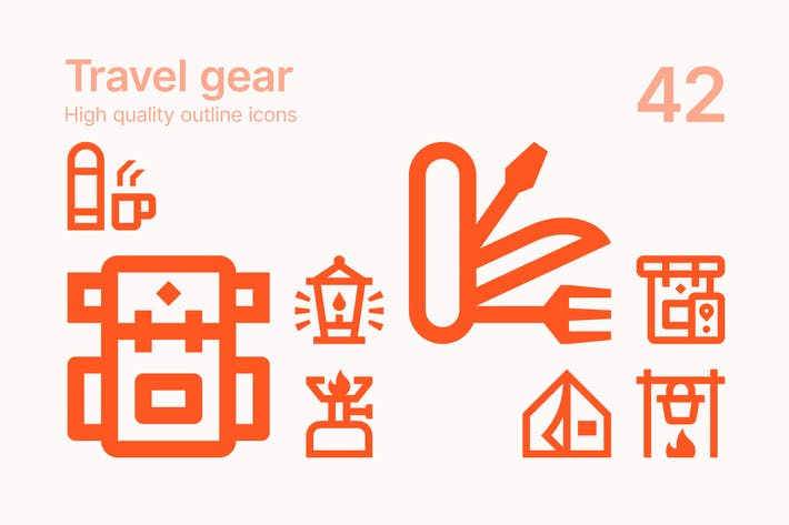 Travel Gear Icons