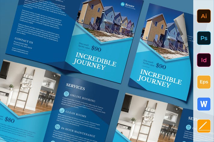 Thumbnail for Vacation Rental Brochure Bifold